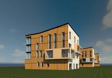 3D multy-story house MODEL. 3D model render of bulding Royalty Free Stock Images