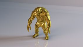 3d Muscle man Royalty Free Stock Photography