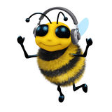 3d Music bee Royalty Free Stock Image