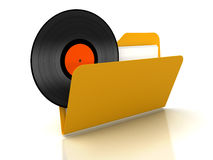 3d music disco in Folder Royalty Free Stock Photography
