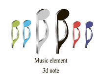 3d music element Stock Images