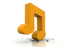 3D music note Stock Images
