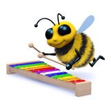 3d Musical bee Stock Image
