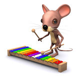3d Musical mouse Royalty Free Stock Photos