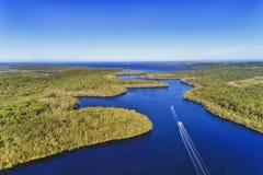 D Myall jeziora 2 łodzie Obraz Stock