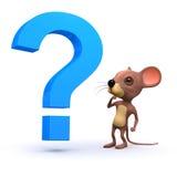 3d mysz z pytaniem Fotografia Royalty Free