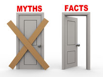 3d myth and fact doors Royalty Free Stock Photos