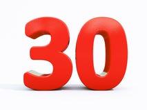 3d número trinta Imagens de Stock