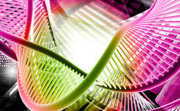 D N A. Digital illustration of a dna in red background stock images