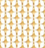 3d naadloze patroon van de diamant gouden symmetrie Stock Foto's