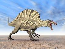 3d nad ścieżką ścinku dinosaur odpłaca się cienia spinosaurus biel ilustracji