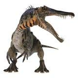 3d nad ścieżką ścinku dinosaur odpłaca się cienia spinosaurus biel royalty ilustracja