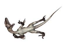 3d nad ścieżką ścinku dinosaur odpłaca się cienia utahraptor biel ilustracji