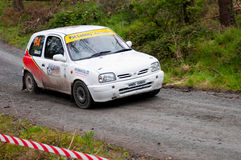 D. Nagle driving Nissan Micra Stock Images
