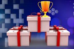 3D nagrody pudełka ilustracja Zdjęcie Stock