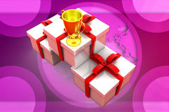 3D nagrody pudełka ilustracja Obraz Stock