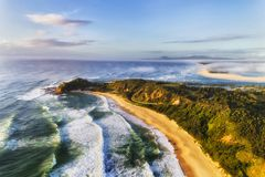 D Nambucca Head Shelly Beach Mist Royalty Free Stock Photo