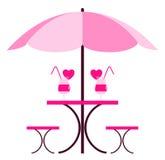 3d napoju serc miłości dolewania czerwieni wineglass Zdjęcia Stock