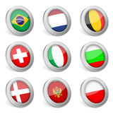 3D national flag icon Royalty Free Stock Photography
