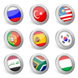 3D national flag icon Stock Photo