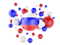 3d National flag of Russia isolated on white background Stock Photography