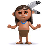3d Native American Indian with arms outstretched Stock Image
