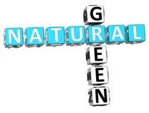 3D Naturalny Zielony Crossword royalty ilustracja