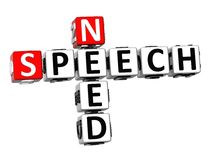 3D Need Speech Crossword. On white background Royalty Free Stock Image