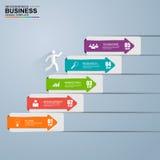 3D negócio digital abstrato Infographic ilustração do vetor