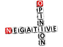 3D Negative Opinion Crossword Stock Photos