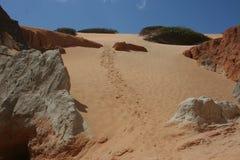 D?nen auf dem Strand von Canoa Quebrada lizenzfreie stockbilder
