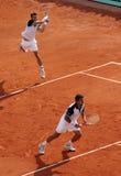 D. NESTOR/N. ZIMONJIC en Roland Garros 2010 Foto de archivo