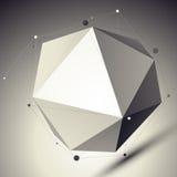 3D netwerk cybernetische modieuze abstracte achtergrond, origamifacet SP Royalty-vrije Stock Afbeelding
