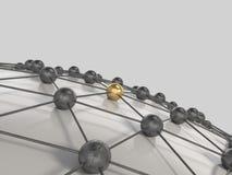 3d netwerk het concept geeft terug Stock Fotografie