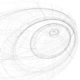 3D netwerk moderne gestileerde abstracte achtergrond, zwart-wit geometri Stock Foto's