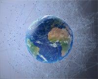 3D netwerk omringende Aarde stock illustratie