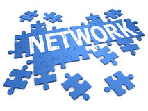 3d Network Jigsaw puzzle Stock Photography
