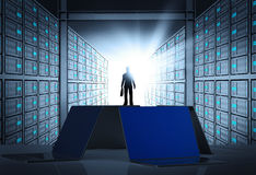3d network server room as concept Stock Photography