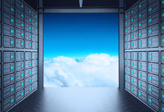 3d network server room Stock Photography