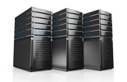 3d of network workstation servers. Royalty Free Stock Photos