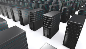 3d of network workstation servers. Stock Photography