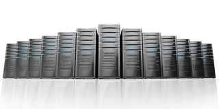 3d of network workstation servers. Royalty Free Stock Photography