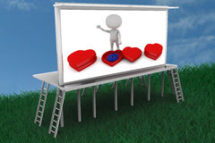3d new generation love illustration on bill board Royalty Free Stock Photo