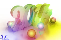 3d New Year 2014. New year 2014 in attractive colour background Royalty Free Stock Image
