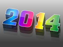 3d new year background. Vector illustration Stock Photos