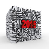 3d 2015 new year cube Royalty Free Stock Photo