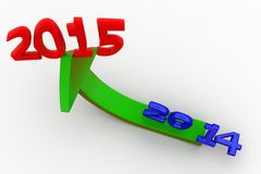 3d new year growth concept Royalty Free Stock Photo