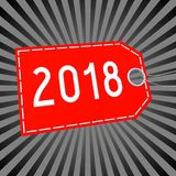 3D 2018 New Year illustration. Black and gray background Royalty Free Stock Images