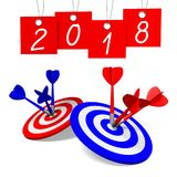 3D 2018 New Year illustration. Isolated on white background vector illustration
