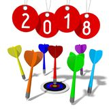 3D 2018 New Year illustration. Isolated on white background royalty free illustration